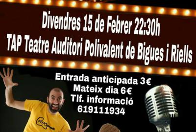 Comedy in the new theater of Bigues i Riells!