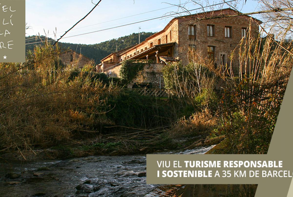 Haz turismo responsable y sostenible. Elige el Hotel Rural Molí de la Torre